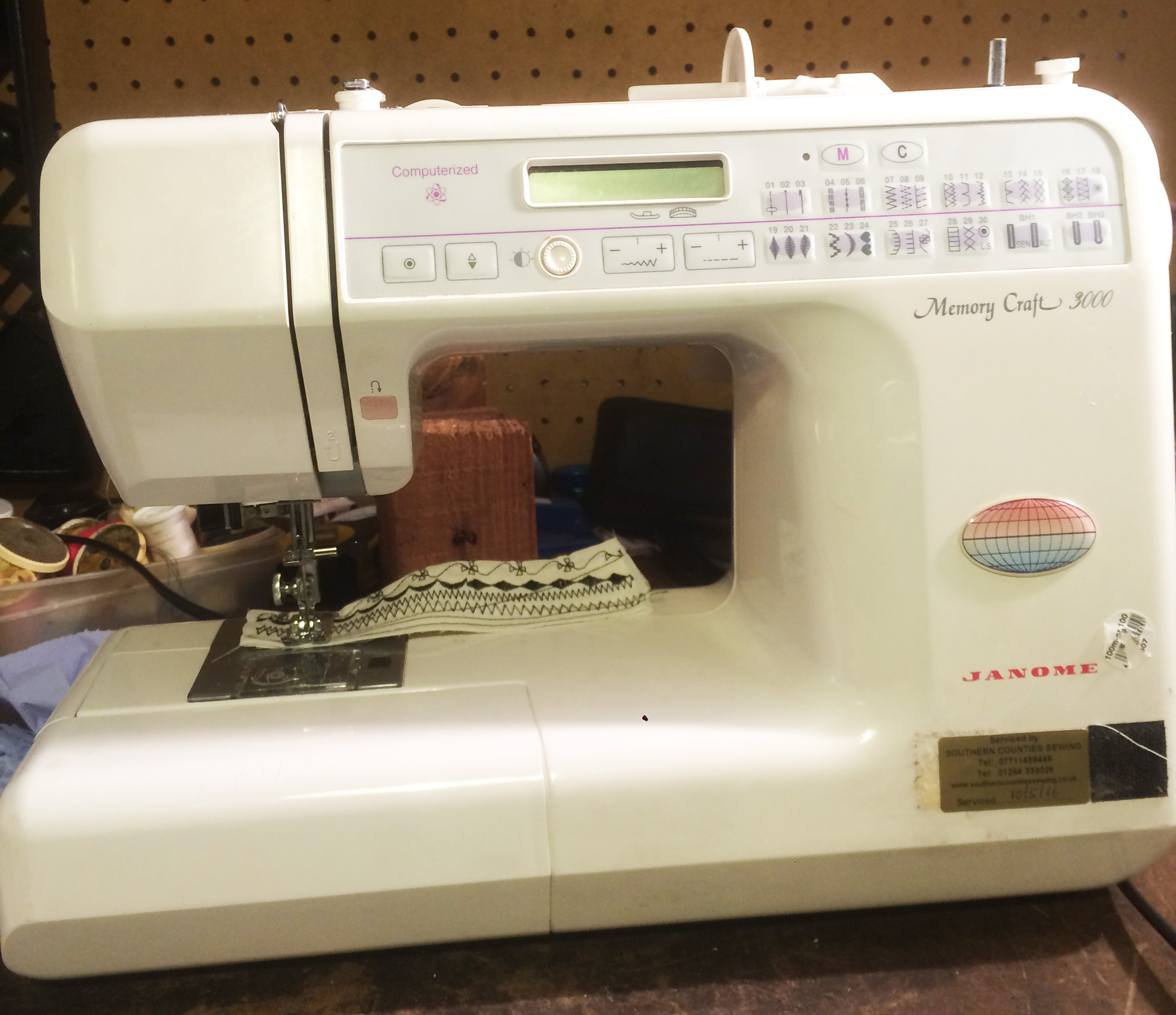 Janome domestic sewing machine service and repair for Janome memory craft 3000